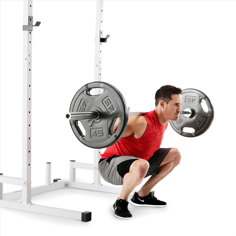 The Marcy Power Cage and Weight Bench SM-5092 is perfect for squats and presses