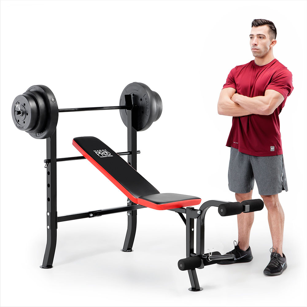 The Marcy Pro Standard Weight Bench with 100lb Weight Set PM-2084 is a sturdy unit that is built to last