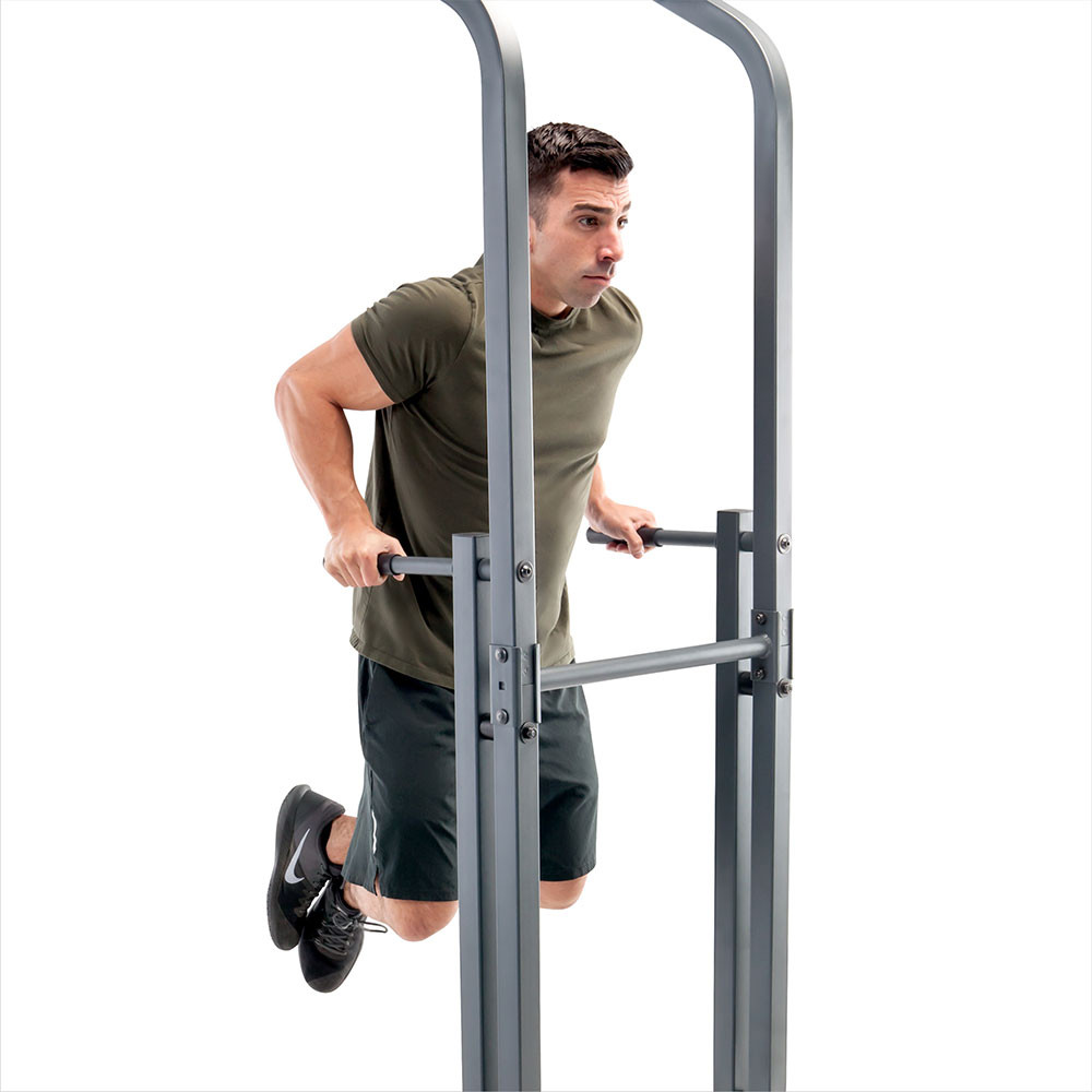 The Marcy Power Tower Multi-functional Home Gym Dip Station | TC-5580 offers a dip station
