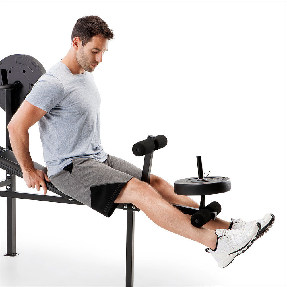 The Standard Bench CB-20111 by Competitor includes a leg developer for lower body workouts - don't miss leg day!