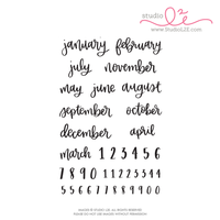 Scripted Months planner stamps by Studio L2E