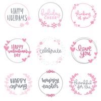 Seasonal Wreath stamp examples