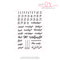 Bow Dates planner and bullet journaling stamps by Studio L2E