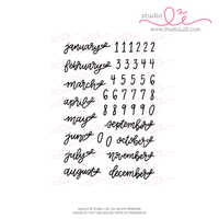 Bow Dates Monthly planner and bullet journaling stamps by Studio L2E
