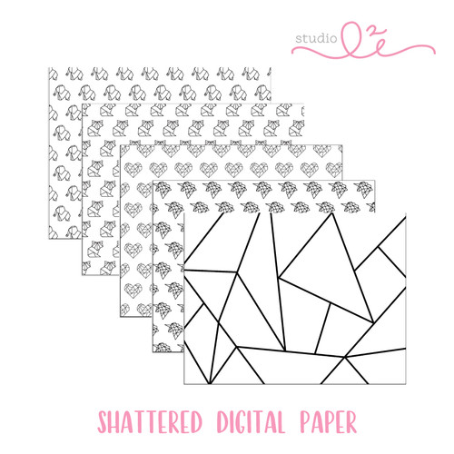 Shattered * DIGITAL PAPER *