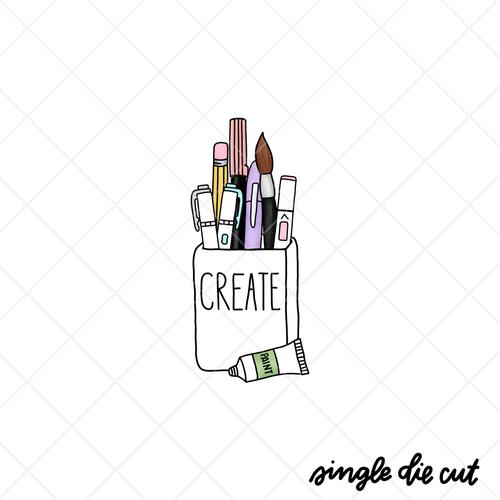 Create Pen Cup die cut