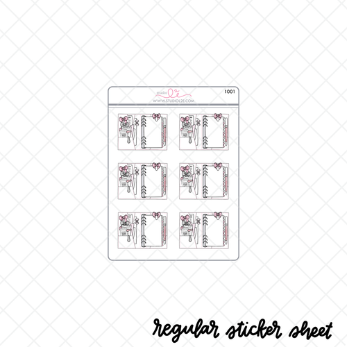 White RINGS Open stickers