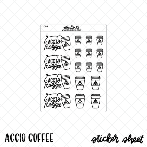 Accio Coffee Stickers