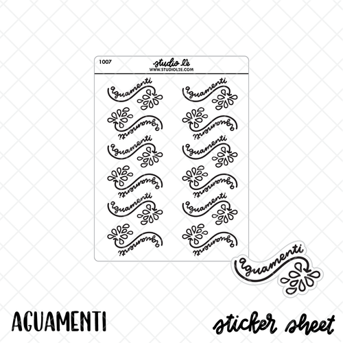 Aguamenti Sticker Sheet