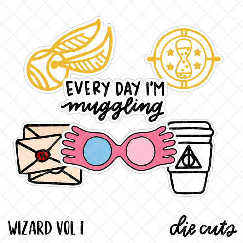 Wizard Volume 1 die cut set by Studio L2E