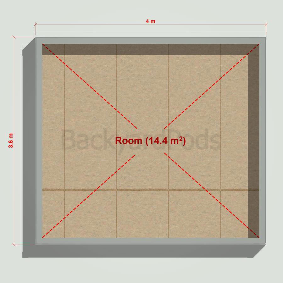 Basic backyard pod kit 3.6m x 4m flat-pack