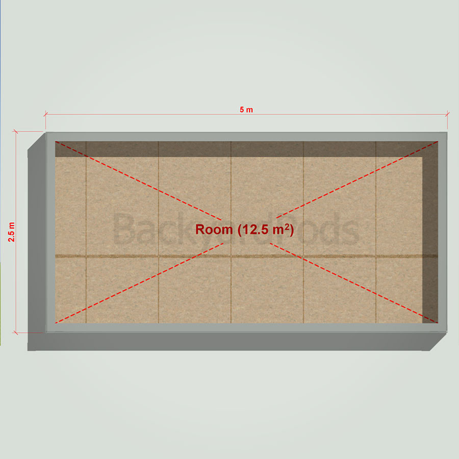 Basic backyard pod kit 2.5m x 5m flat-pack