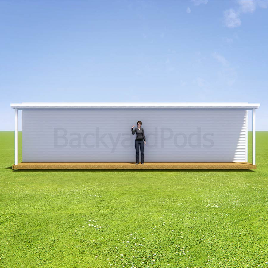 Basic deck/veranda kit 1.5m x 10m flat-pack