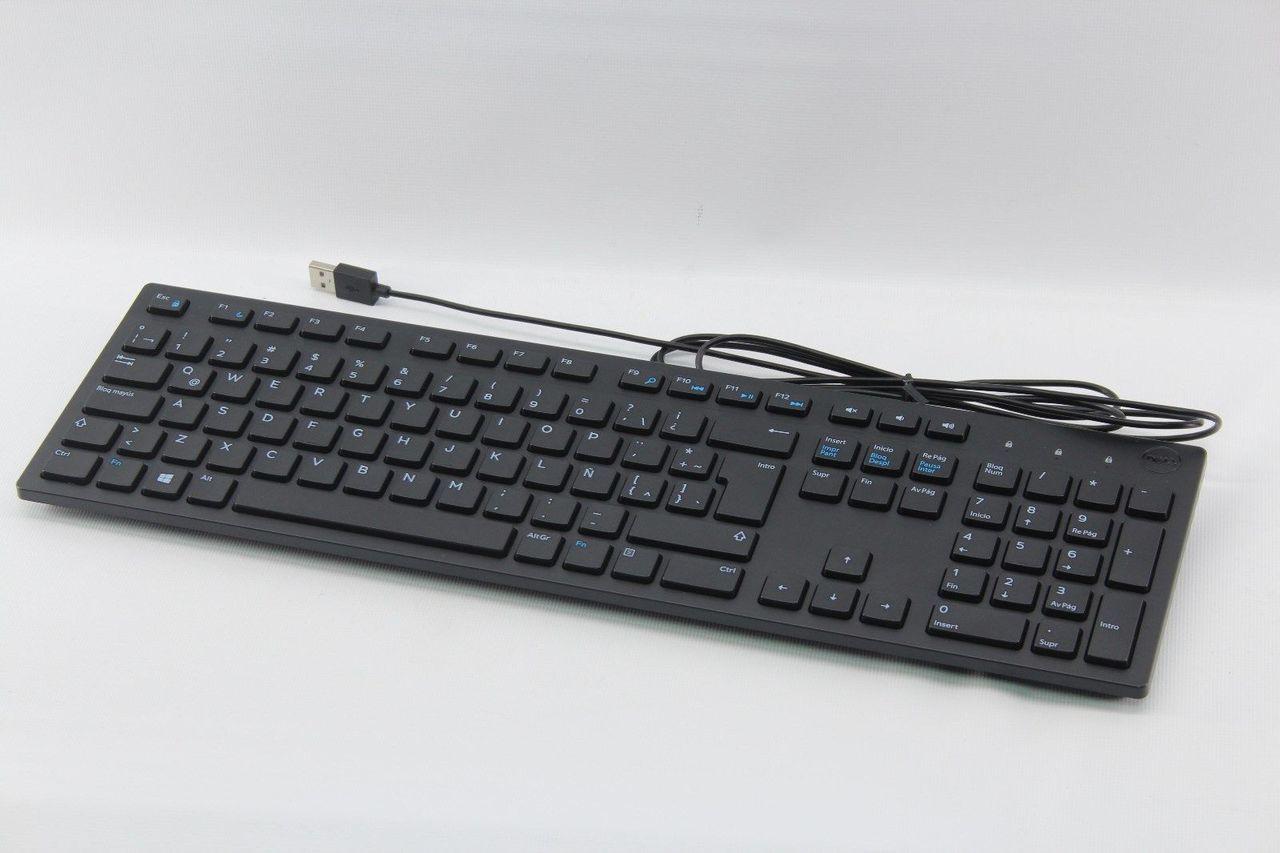 Dell KB216 Slim Design USB Wired Spanish/Latin Español 104-Key ...