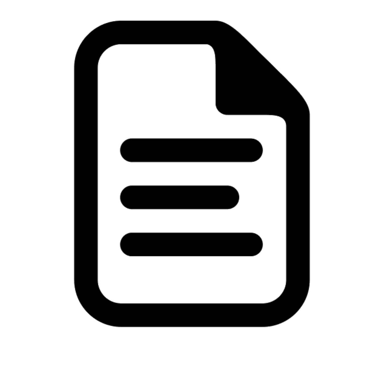 paper document icon - decibullz instructions