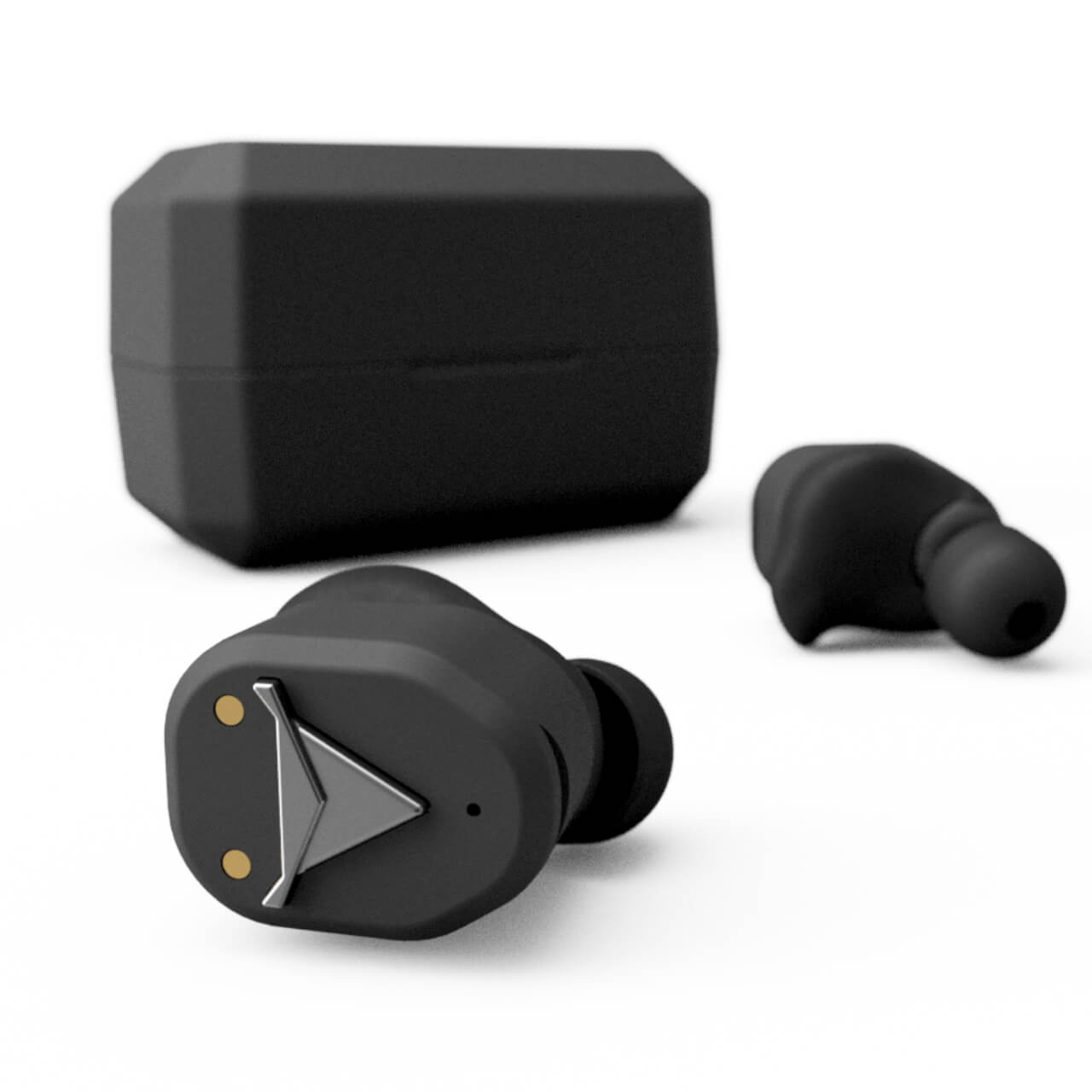 decibullz black wireless headphones