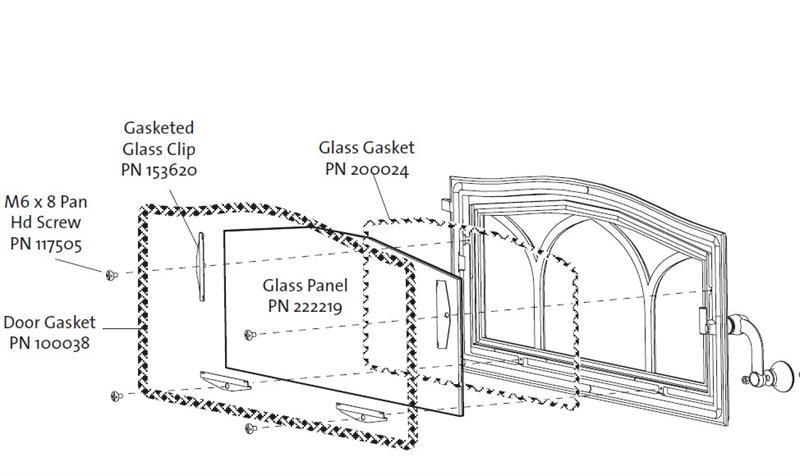 Jotul C550 Wood Insert Glass