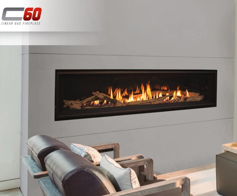 Linear Gas Fireplace >> Enviro C60 Linear Gas Fireplace
