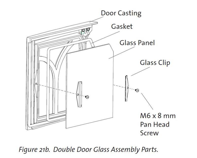 C450 Double Door Glass 220356