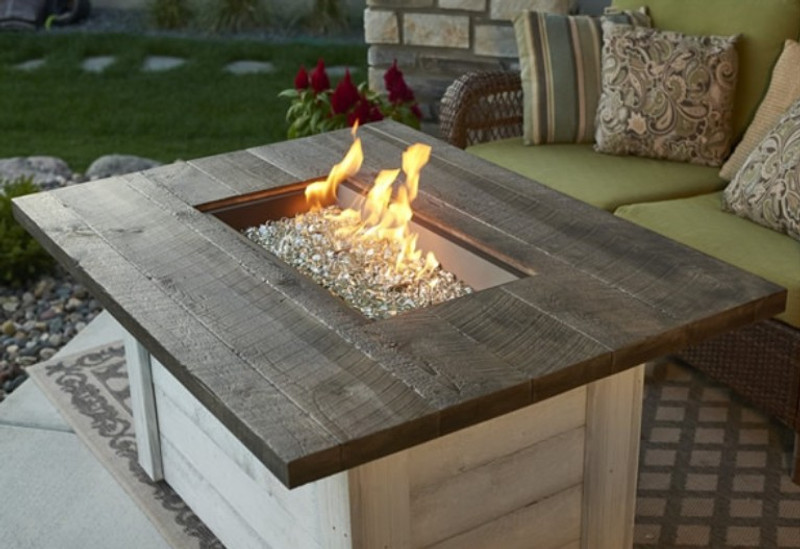 Alcott Gas Firepit Table