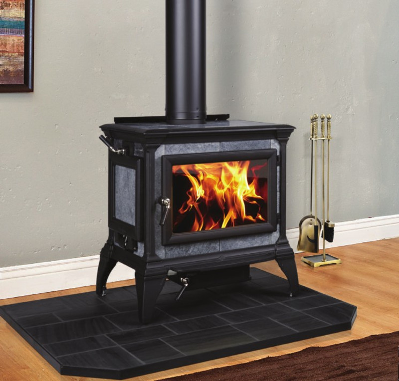 Hearthstone Heritage 8023 Wood Stove in Matte Black