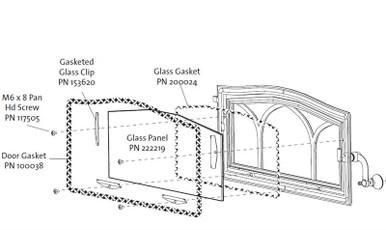 Jotul C550 Wood Insert Glass Rocky Mountain Stove