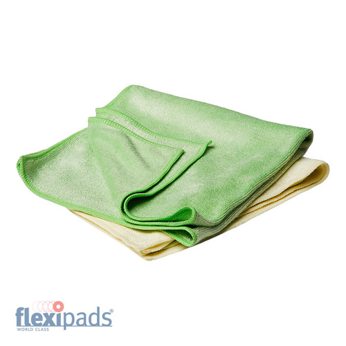 BUFFING Yellow & Green Towels (Set of 2)