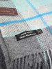 Wool and Cashmere Throw - Silver Teal Stripe