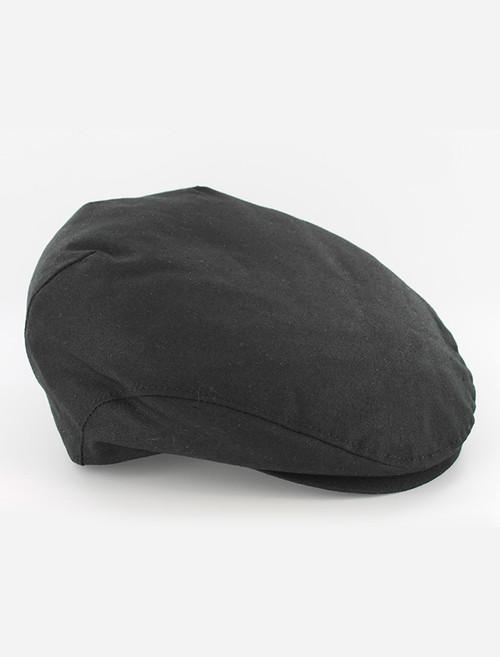 Trinity Wax Flat Cap - Black