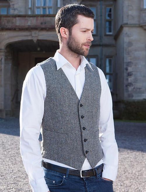 Tweed Waistcoat - Grey