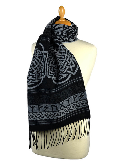 Celtic Runic Pattern Scarf - Carcant