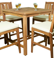 Counter Height Teak Tables - Teak high top table