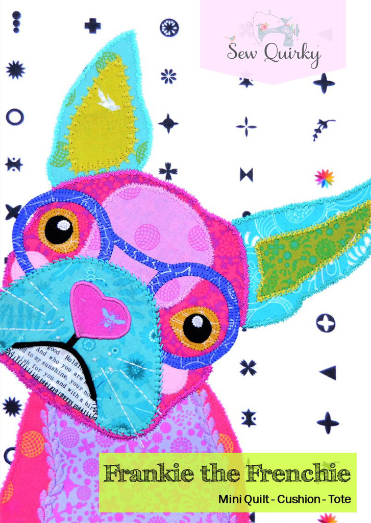 Frankie the Frenchie - Applique Pattern