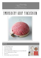 Embroidery Hoop Pincushion Kit