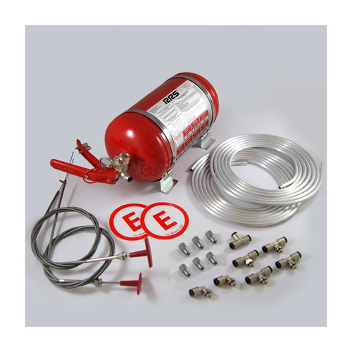 RRS 4.25L Mechanical Plumbed In Extinguisher System - EARS Motorsports. Official stockists for RRS-1999019006