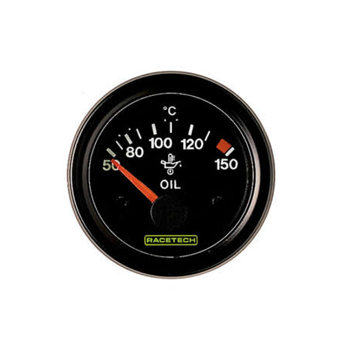 Racetech Oil Temperature Gauge 0-150C - EARS Motorsports. Official stockists for Racetech-RTEOT150