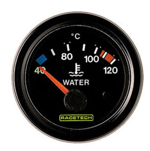 Racetech Water Temperature Gauge 0-120C - EARS Motorsports. Official stockists for Racetech-RTEW120