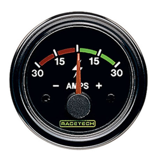 Racetech Ammeter Gauge -30 to +30 Amps - EARS Motorsports. Official stockists for Racetech-RTEAM