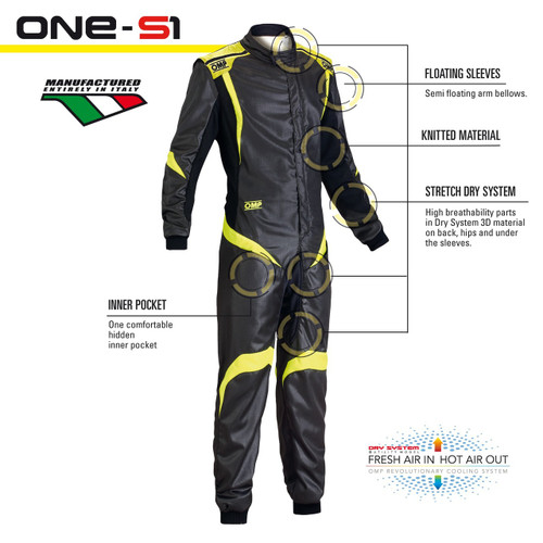 OMP ONE-S1 Racesuit - EARS Motorsports. Official stockists for OMP-IA01852