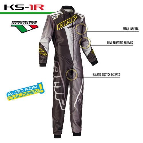 OMP KS-1 R Kart Suit - EARS Motorsports. Official stockists for OMP-KK01720