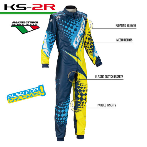 OMP KS-2 R Kart Suit - EARS Motorsports. Official stockists for OMP-KK01725