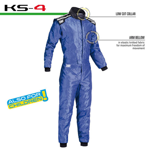 OMP KS4 Kart Suit - EARS Motorsports. Official stockists for OMP-KK01724