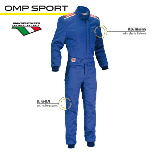 OMP SPORT Racesuit - EARS Motorsports. Official stockists for OMP-IA01847F
