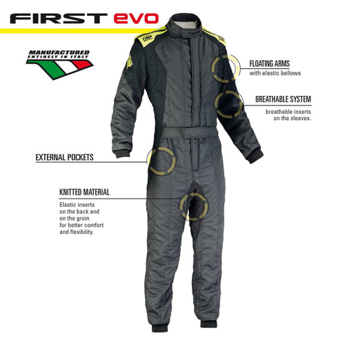 OMP First EVO Race Suit - EARS Motorsports. Official stockists for OMP-IA01854