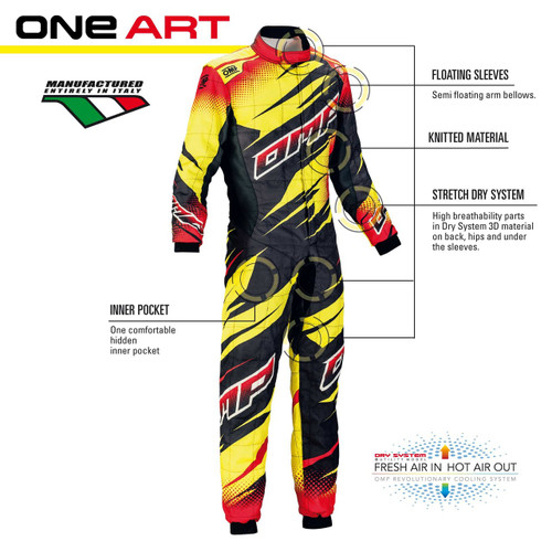 OMP ONE ART Racesuit - EARS Motorsports. Official stockists for OMP-IA01857