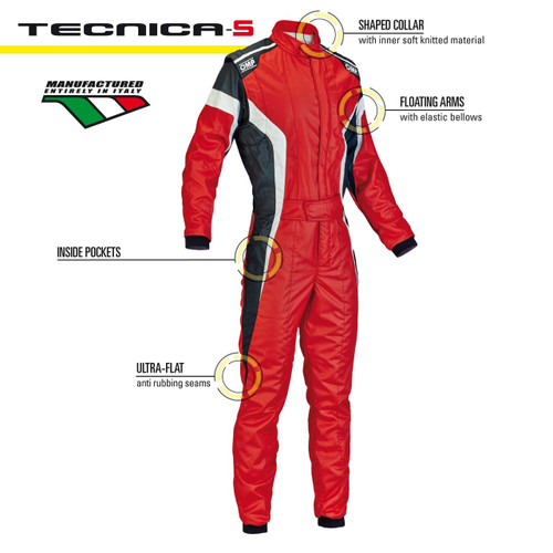 OMP Tecnica-S Racesuit - EARS Motorsports. Official stockists for OMP-IA01850