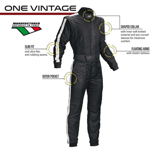 OMP ONE Vintage Racesuit - EARS Motorsports. Official stockists for OMP-IA01842