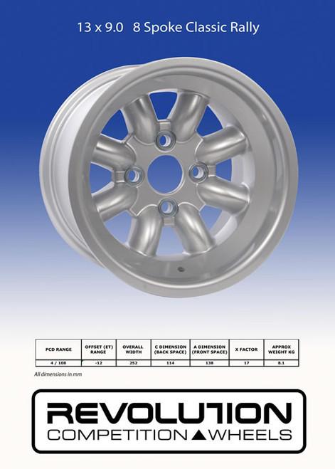 Revolution 9x13 8-Spoke Wheel - EARS Motorsports. Official stockists for Revolution-RVC927L4F2-12791xAO