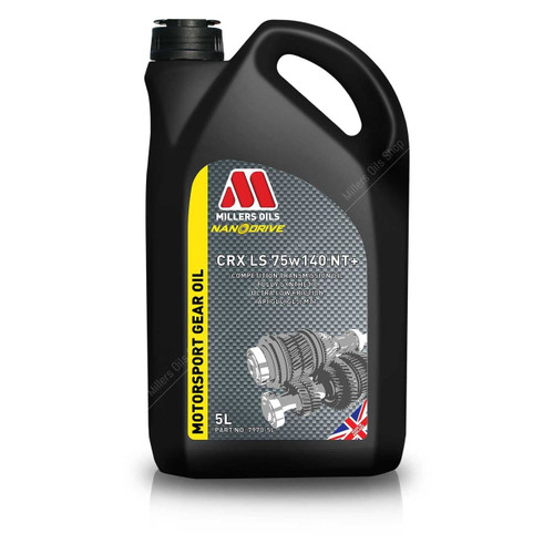 Millers CRX LS 75w140 NT+ (5 Litre) - EARS Motorsports. Official stockists for Millers Oils-CRXLS75W140NT5L