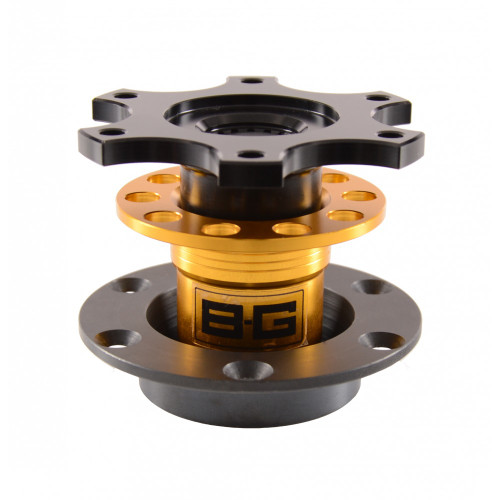 B-G Racing Bolt-On Steering Wheel Quick Release - EARS Motorsports. Official stockists for B-G Racing-BGR706